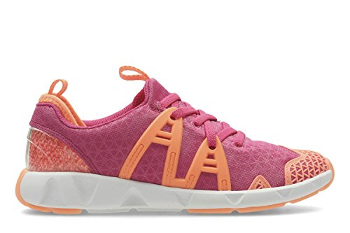 Clarks Mädchen Luminousglojnr Sneaker Blau (Pink Combi)