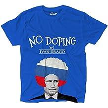Camiseta hombre Comics Trash Vladimir Putin político Doping Bandera Ruso Milit, Bright Royal