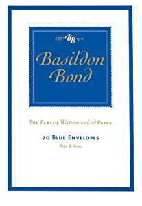 Basildon Bond Duke Envelopes 95x143mm 90gsm Peel & Seal Pack of 10 - Color: Blue
