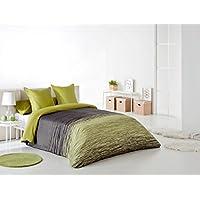Reig Martí Chil - Juego de funda nórdica jacquard, 3 piezas, para cama de 135 cm, color verde