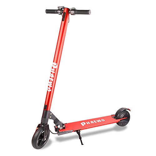 Electric Scooter - Foldable Power Scooter,6.5 Inch Two Wheel Scooter with 3 speeds with a Max Speed of 12mph and Travel Range of up to 9 Miles, Comes With a Free Bag(2018 Easy Fold-n-Carry Design)