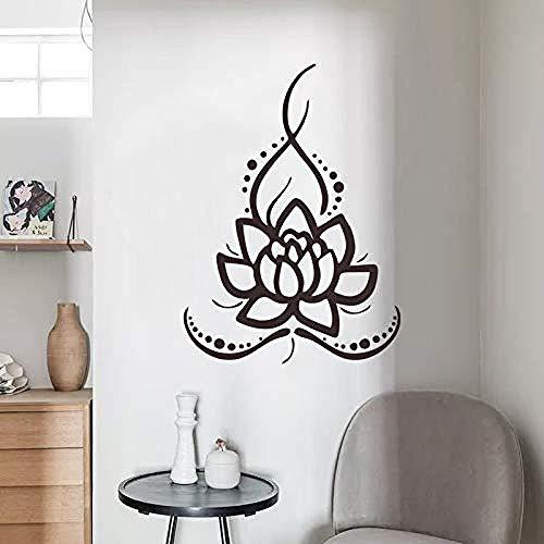 Zykang 3d wandaufkleber jingya lotus yoga aufkleber gesundheit museum tee zimmer hintergrund wanddekoration wandaufkleber wasserdicht sonnenglas tür und fenster aufkleber 43 * 59 cm