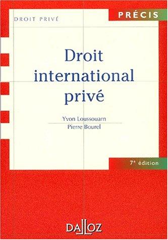 Droit international privé, 7e édition