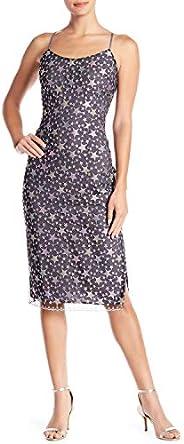 Bebe Women's Star Lace Midi Slip Dress Casual Night Out D