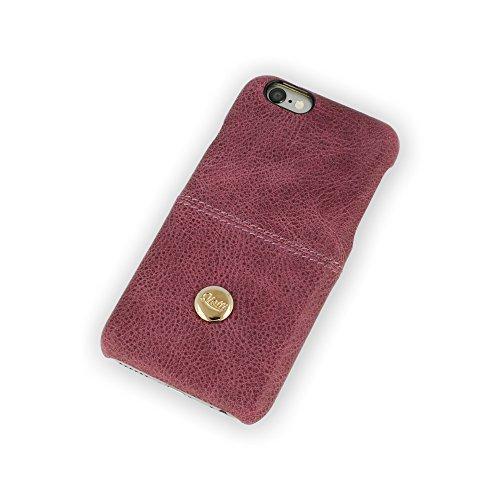 QIOTTI QX-C-0060-04-IP6 Q.Snap Smart Premium Echtleder Schutzhülle für Apple iPhone 6/6S lila Apple Iphone Snap Lila