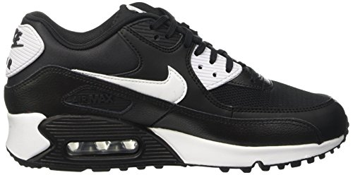 Nike Wmns Air Max 90 Essential, Baskets Femme, Gris Noir (Black/White/Metallic Silver)