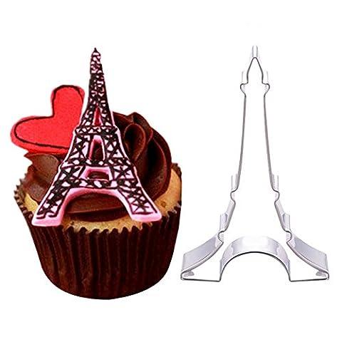 C-pioneer Tour Eiffel Fondant Moule à Cake Cookie Décoration Moule à gâteau Cutter Outil