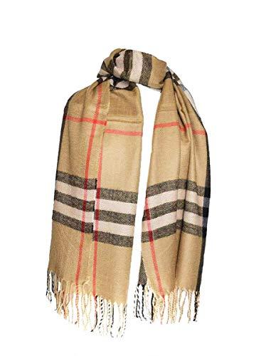 KGM Accessories Damen Schal beige 175 x 95 cm