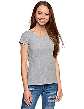 oodji Ultra Mujer Camiseta Básica de Algodón (Pack de 2 Unidades)