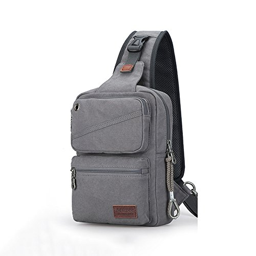 Anjcd Männer Chest Pack High Capacity Messenger Bag Segeltuch Schultertaschen Reise durch Walking Small Rucksack 2#