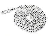 "Silver Insanity 3mm Sterling 30"" perle ou collier chaîne boule (longueur 16"", 18 "", 20"", 22"", 24"", 30"")"