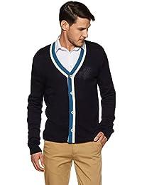 John Miller Men's Half-Zip Acrylic Sweater