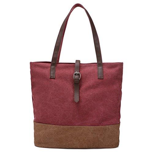 borsa di tela Ms./borsetta/borsa a tracolla minimalista letteraria/borse casual retrò originale-A C