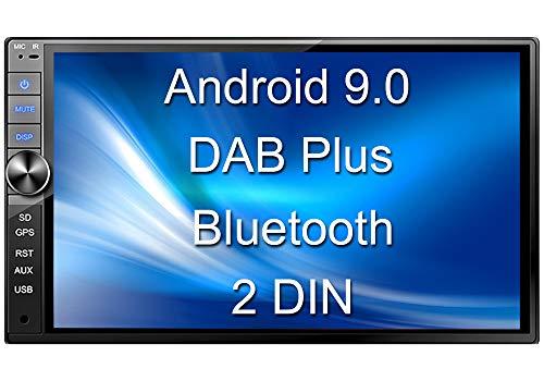Tristan Auron BT2D7020A Autoradio mit Android 9.0, 7\'\' Touchscreen Bildschirm, GPS Navi, Bluetooth Freisprecheinrichtung, Quad Core, MirrorLink, USB/SD, OBD 2, DAB+, 2 DIN