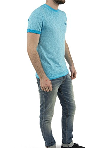 Superdry Herren T-Shirt O L Low Roller Blau