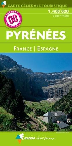 00 PYRENEES FRANCE/ESPAGNE - 1/400.000 par Collectif