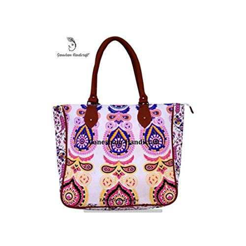 Hippie Tapestry Handmade Boho Hobo Tote Bags Hand Shoulder Bags Cotton Indian Mandala Bags for Women -