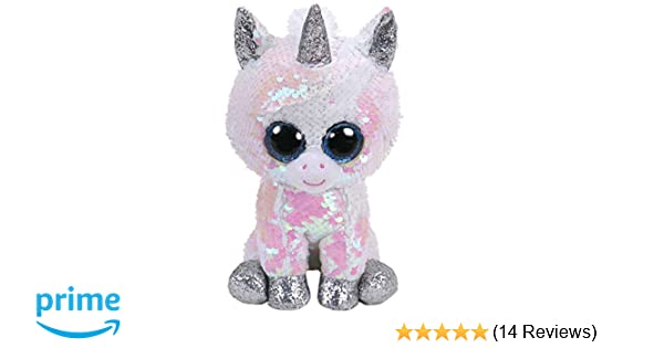 "Unicorn Changing Sequins 6/"" Beanie Boos 2019 NEW IN HAND Ty FLIPPABLES ~ PIXY"