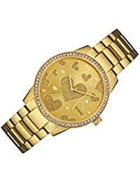 Guess Damen-Armbanduhr Analog Quarz Edelstahl W0699L2