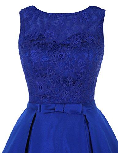 Find Dress Rétro Vintage 40s 50s 60s Femme Elégant Robe de Soirée/Cérémonie/Cocktail Mariage Courte en Satin Corail