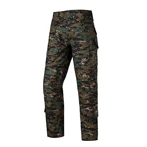 Qrigf Taktische Kleidung Camouflage Combat Frog Pants Outdoor Frosch Anzughose Herren Outdoor Camouflage Trainingshose I-S - Militärische Bdu Shirt
