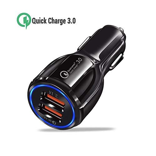 ONELY Quick Charge 3.0 Caricatore per Auto con 2 Porte, 34,5W Alimentatore da Auto per Samsung Galaxy S8 / S8+, LG G5 / G6, HTC 10, Nexus 5X / 6P, iPhone X / 8 Plus / 8/7, iPad Air/PRO ECC.