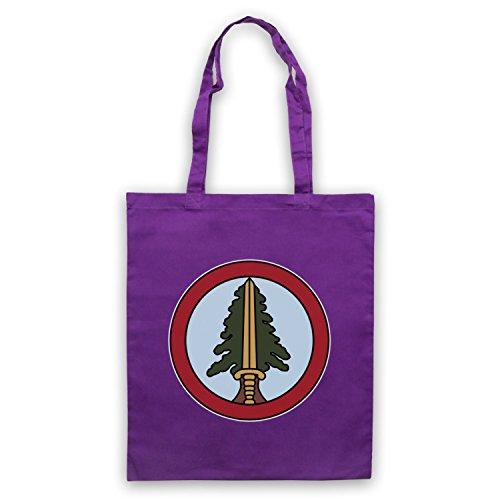 Inspiriert durch Twin Peaks Bookhouse Boys Badge Inoffiziell Umhangetaschen Violett