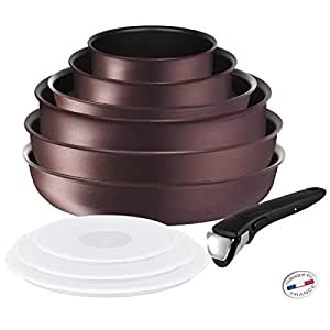 TEFAL INGENIO 5 Set 10 Pièces Pourpre INDUCTION