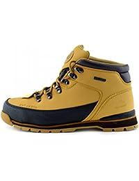 Mens Bases de punta de acero Botas de seguridad Encajes de trabajo de tobillo de Cuero distribuidor de botas