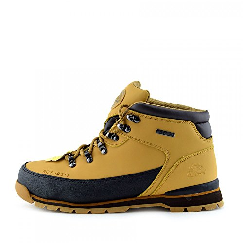 Kick Footwear - Groundwork - Mens Scarpe antinfortunistiche Stivali da neve uomo - UK 9 / EU 43, Miele