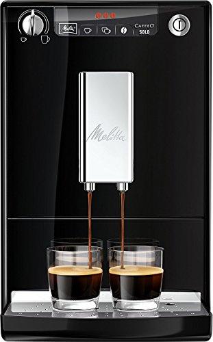 """Melitta, E 950-101, Macchina per caffè""""Caffeo Solo"""", con funzione di preriscaldamento, colore: Nero"""