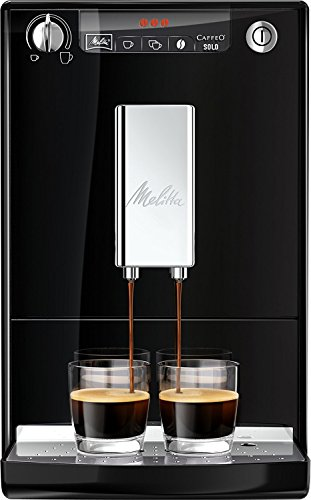 Melitta Caffeo Solo E950-101 Schlanker Kaffeevollautomat mit Vorbrühfunktion | 15 Bar | LED-Display...