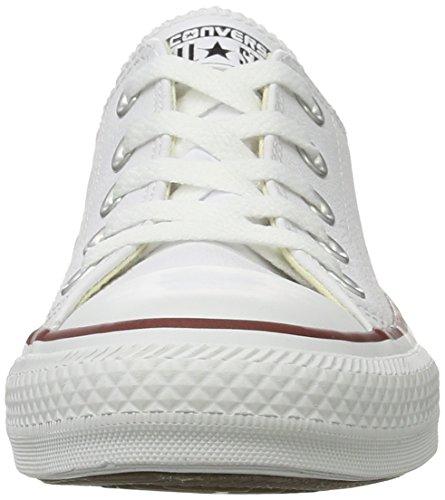 Converse Chuck Taylor All Star Core Lea Ox, Baskets mode mixte adulte Blanc Cassé (White Monochrome)