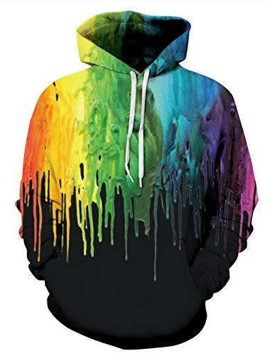 Idgreatim Junior Boys Graphic Graffiti Pullover Hoodie Langarm Lässige Kapuzenjacke -