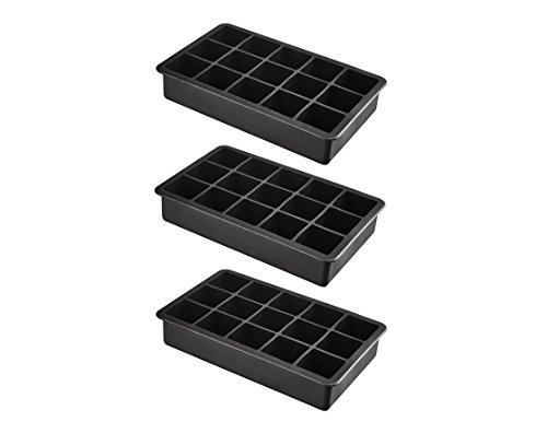 XXL Eiswürfelform aus Silikon für Jumbo Eiswürfel - 3er Pack 15 riesige Eiswürfel 3 x 3 x 3 cm - BPA-Frei -