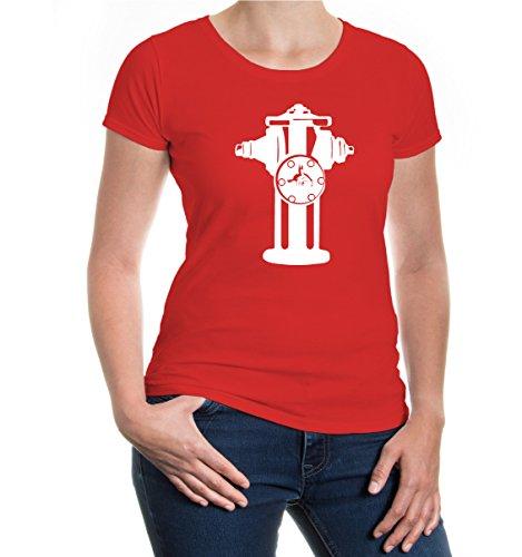 buXsbaum® Girlie T-Shirt Wasserhydrant Red-White