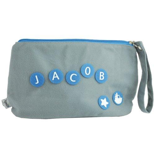 KJOMIZO–do KJOMIZO dottybag–Borsa fasciatoio/multiuso, personalizzabile con applicazioni nello stesso colore della chiusura lampo blau