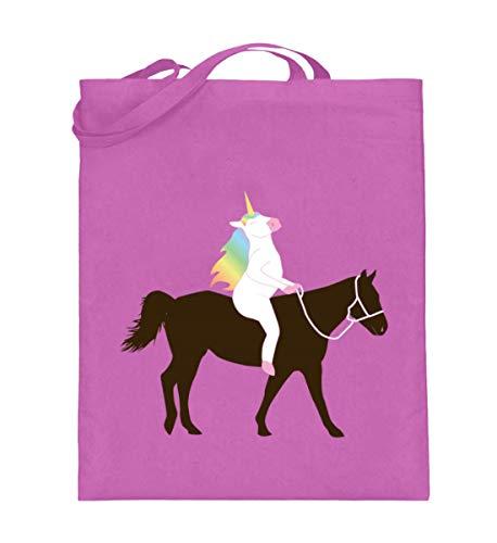 Chorchester Perfekt für Einhorn und Pferde Fans - Jutebeutel (mit langen Henkeln) -