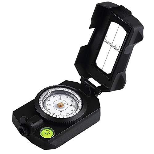 ZWYY Kompass, wasserdichter Militärnavigationskompass Sighting Survival Emergency Compass Metal Hand Held Orienteering Kompass mit Pouch