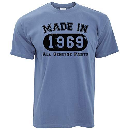50. Geburtstag T-Shirt Hergestellt 1969 Alle Original-Teile Stone Blue XX-Large