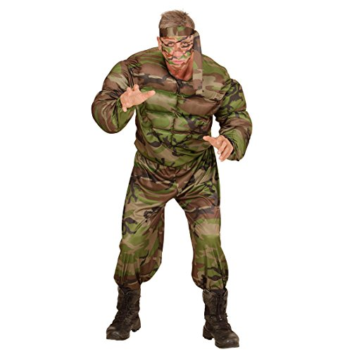 Arme Kostüm Muskel - NET TOYS Soldaten Muskel Kostüm Armee Herrenkostüm Soldat XL 54 Soldatenkostüm Offizier Army Muskelkostüm Militär Krieger Outfit Bundeswehr Verkleidung Männer