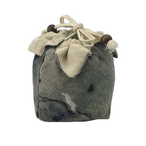 Conception rétro, sac de cordon de toile de jute, sac de rangement multifonctionnel