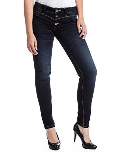 Timezone Damen New KairinaTZ 3787 Noble Blue wash Slim Jeans, Blau, W27/L32 (Herstellergröße: 27/32)