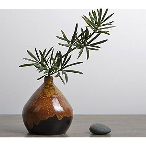 Retro Vaso in ceramica Mini Fiore Decorazione Della Casa Artigianato ornamenti 10.5cm * 9cm A