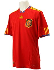 adidas–Camiseta de fútbol de la selección de España FEF en casa o fuera, rojo/oro, color Rojo/Dorado, tamaño XL