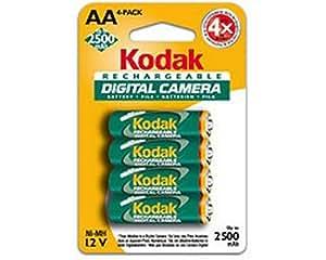Kodak KAARDC4 4 pack of 2500mAh AA NiMH Batteries