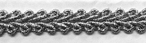 16,40m Posamentenborte 10mm breit Farbe: Lurex-Silber TSL-Bullet-C-Silber
