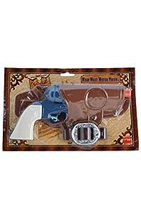 Smiffys Pistola de Agua del Oeste, Pistola, con Funda de Pistola y cinturón