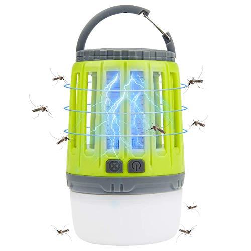 Osaloe Lámpara eléctrica Anti Mosquitos, lámpara de Camping Anti-Mosquitos asesina Recargable LED...