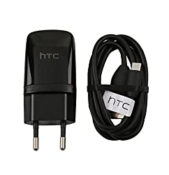 New 1.5 Amp Travel Adapter Charger With USB Data Cable - For Htc Desire 820 816 826 620G 626G 526G 501 One M7 M8 E8 Eye One Mini 2 - Black
